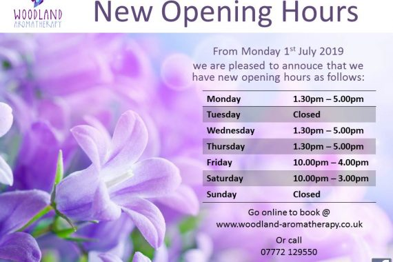 ****NEW OPENING HOURS FROM 1st JULY 2019*****